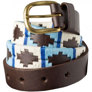 Cordings Blue White Argentinian Polo Belt Main Image