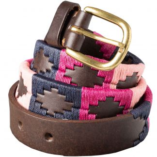 Cordings Pink Navy Argentinian Polo Belt Main Image