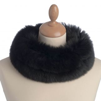 Cordings Fox Fur Collar Black Main Image