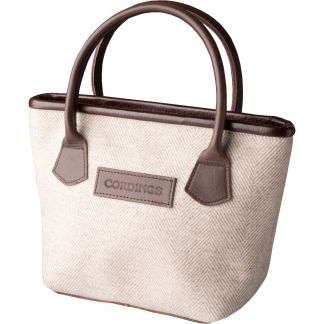 Cordings Cream Carlisle Tweed Tote Bag Main Image