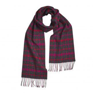 Cordings Grey and Pink Lambswool Long Scarf Main Image