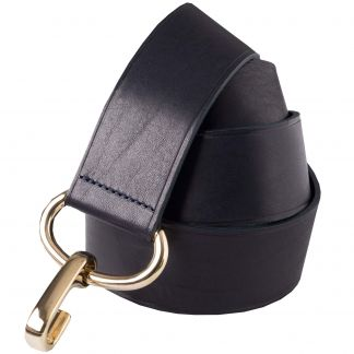 Cordings Black Leather Adjustable Belt Main Image