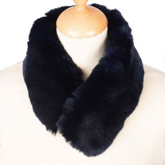 Cordings Navy Rabbit Fur Collar Different Angle 1