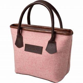 Cordings Pink Herringbone Tweed Tote Bag Main Image