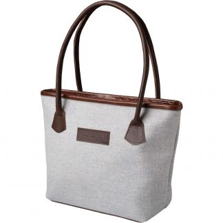 Cordings Blue Herringbone Tweed Hurdler Bag Main Image
