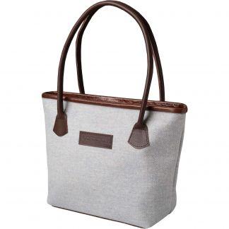 Cordings Blue Herringbone Tweed Hurdler Bag Main Image
