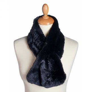 Cordings Black Rex Fox Fur Collar Different Angle 1