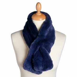 Cordings Navy Blue Fox Fur Collar Main Image