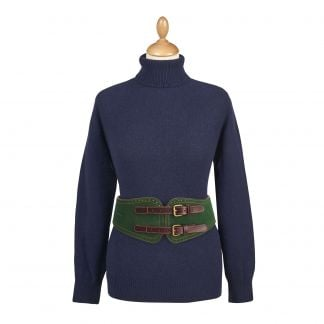 Cordings Olive Wide Suede Equestrian Belt Main Image