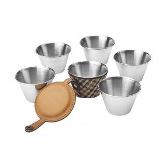 Cordings Wincanton Tweed Drinking Cups Main Image