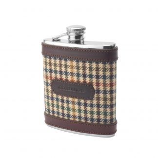 Cordings Wincanton Tweed Mini Hip Flask Main Image