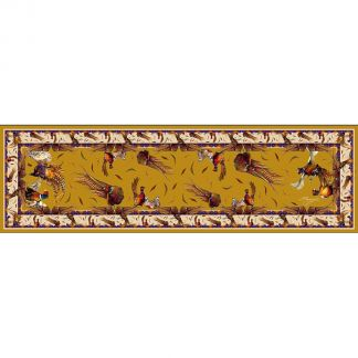 Cordings George & Friends Narrow Gold Silk Scarf Different Angle 1