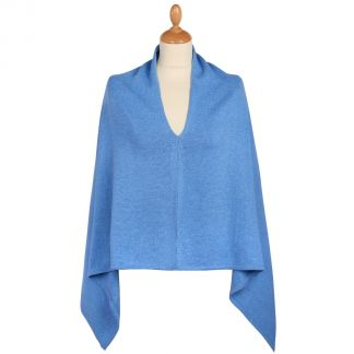 Cordings Blue Cotton Poncho Different Angle 1