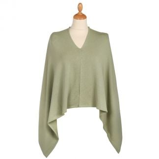 Cordings Green Cotton Poncho Main Image