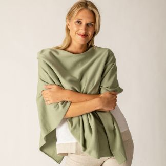 Cordings Green Cotton Poncho Different Angle 1