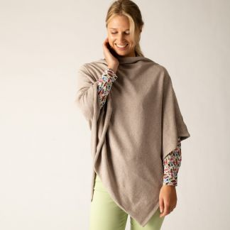 Cordings Tan Brown Cotton Poncho Different Angle 1