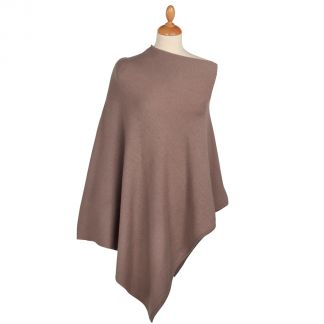 Cordings Brown Nepalese Cashmere Poncho Main Image
