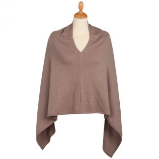 Cordings Brown Nepalese Cashmere Poncho Different Angle 1