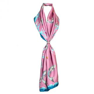 Cordings Catch and Release Pink Classic Scarf Main Image