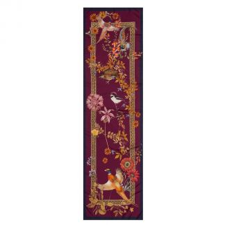 Cordings Wine Silk Pheasant Scarf Different Angle 1