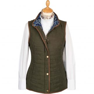 Cordings Olive Green Quilted Classic Gilet Main Image