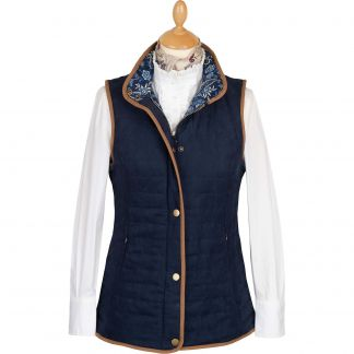Cordings Navy Quilted Classic Gilet Main Image