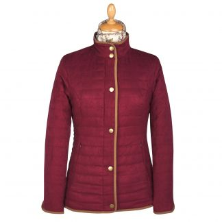 Cordings Wine Quilted Classic Jacket Main Image