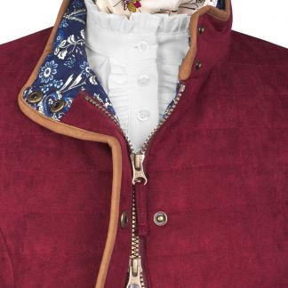 Cordings Wine Quilted Classic Jacket Different Angle 1