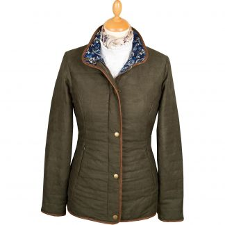Cordings Green Olive Quilted Classic Jacket Main Image