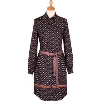 Cordings Pink and Navy Printed Dress Main Image