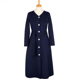 Cordings Navy Button Belted Long Dress Main Image