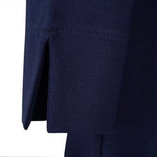 Cordings Navy Button Belted Long Dress Different Angle 1