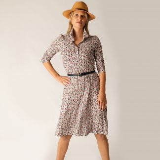 Cordings Floral Stretch Shirt Dress Main Image