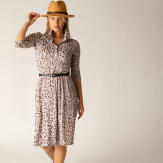 Cordings Floral Stretch Shirt Dress Different Angle 1