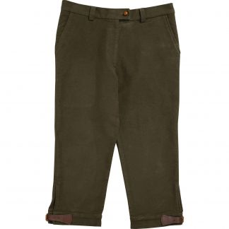 Cordings Olive Stretch Moleskin Breeks Main Image