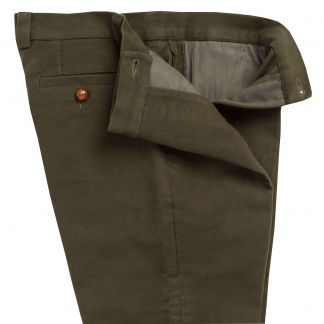 Cordings Olive Stretch Moleskin Breeks Different Angle 1