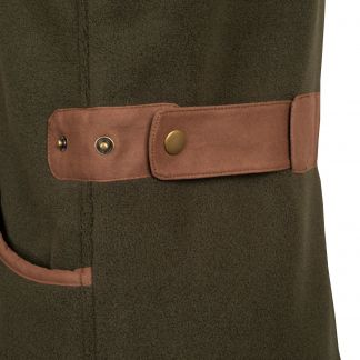 Cordings Green Fleece Shooting Gilet Different Angle 1