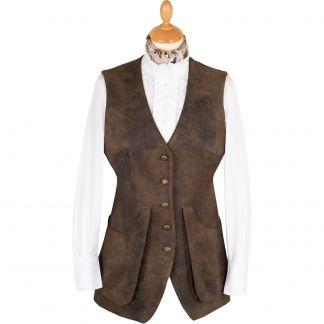 Cordings T. Ba Brown Faux Leather Shooting Vest Main Image