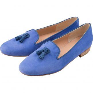 Cordings Blue Suede Tassel Slipper Main Image