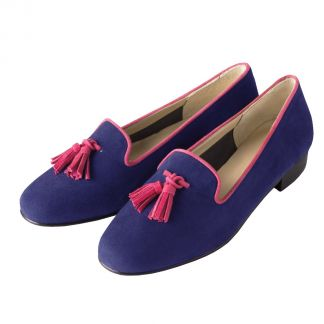 Cordings Navy Red Tassel Slipper Main Image
