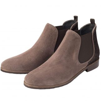 Cordings Taupe Suede Chelsea Boot  Different Angle 1