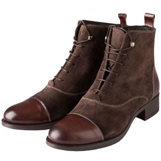 Cordings Brown Leather Lace Up Ankle Boots Main Image