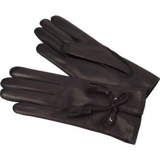 Cordings Black Leather Tassel Gloves Main Image