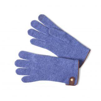 Cordings Blue Merino Leather Tag Trim Glove Main Image