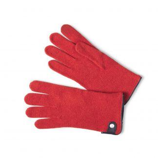 Cordings Orange Merino Leather Tag Trim Glove Main Image