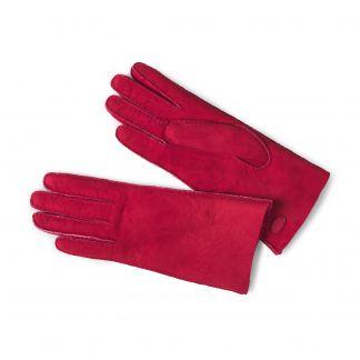 Cordings Red Leather Merino Sheepskin Gloves Main Image