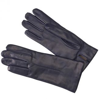Cordings Navy Cashmere Lined Nappa Leather Gloves Main Image