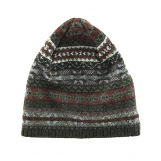Cordings Olive Fairisle Beanie Different Angle 1