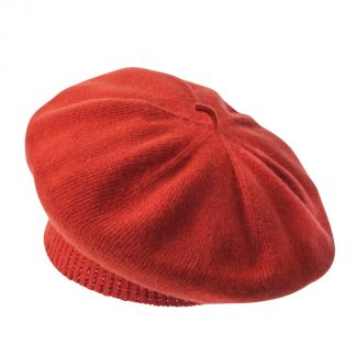 Cordings Orange Merino Cashmere Knitted Beret Main Image