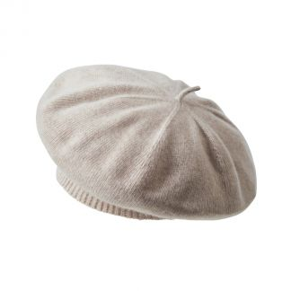 Cordings Beige Merino Cashmere Knitted Beret Different Angle 1